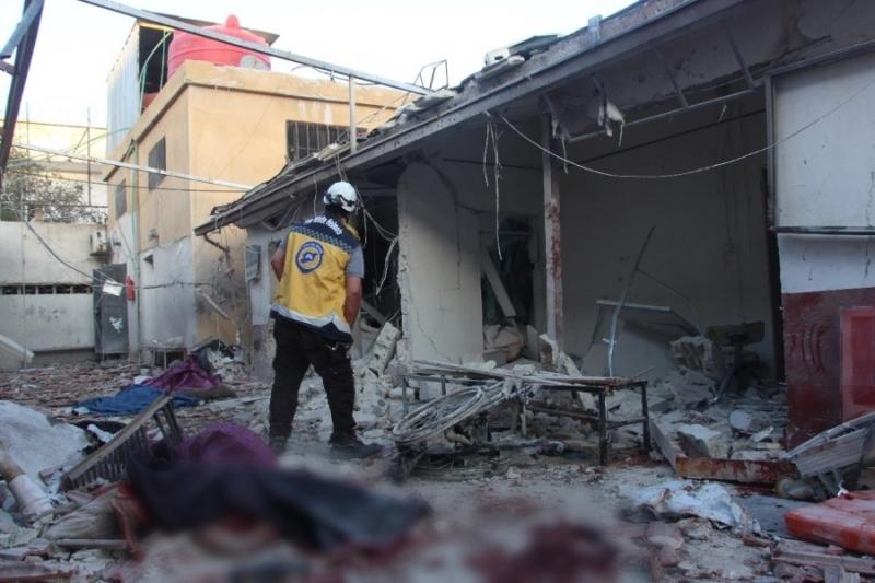 جانب من الدمار بعد القصف الوحشي على عفرين
