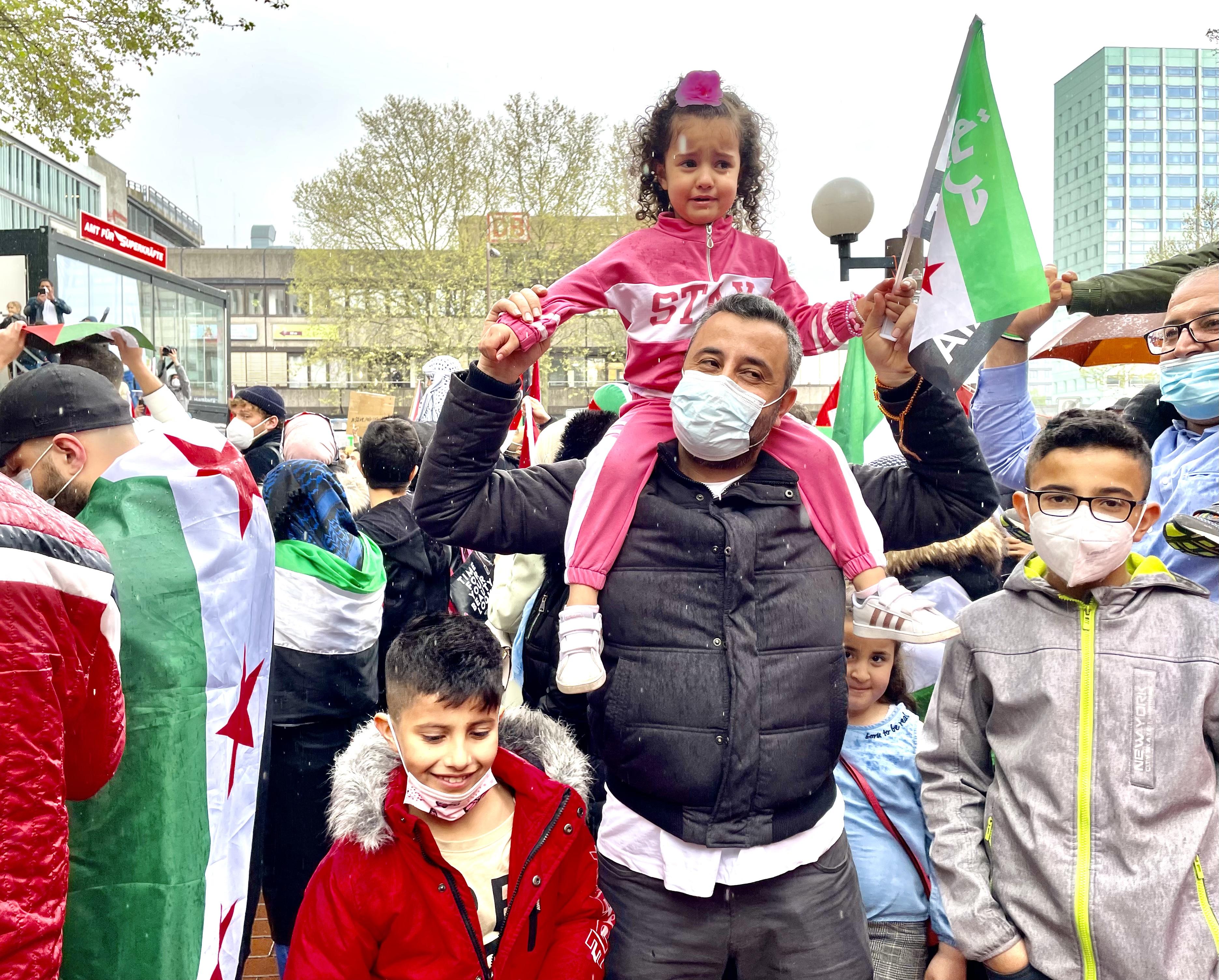 مظاهرة الجالية السورية في هامبورغ، خاص بالسوري اليوم
