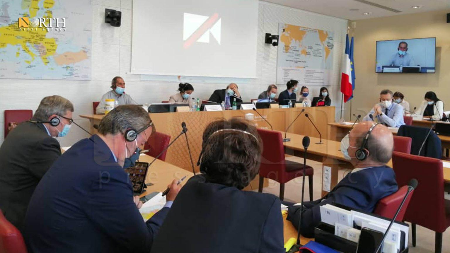 """بيرفان خالد : النقاش ركز  على """"دعم فرنسا لاعتراف المجتمع الدولي بالإدارة الذاتية الكردية""""."""