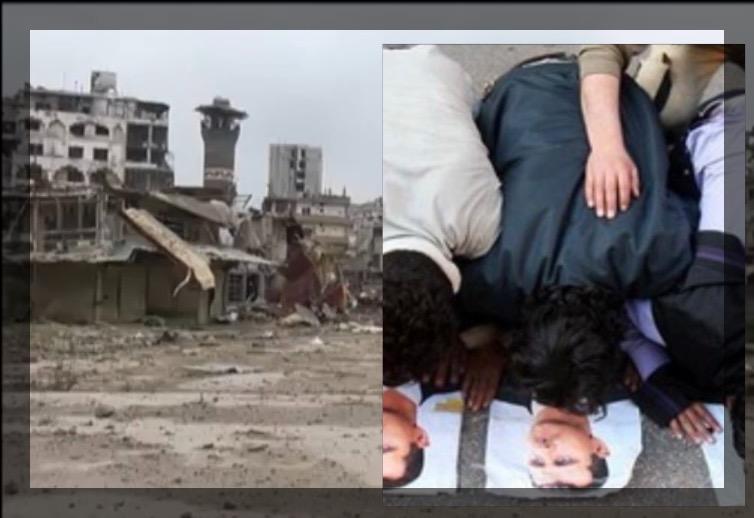تدمير المدينة والركوع لصورة بشار الأسد(صورة تعبيرية)