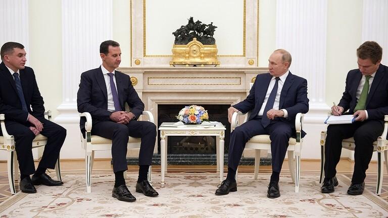 بشار الأسد في موسكو(وكالات)