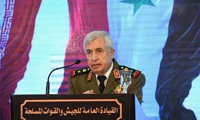 وزير الدفاع في حكومة النظام السوري العماد علي ايوب