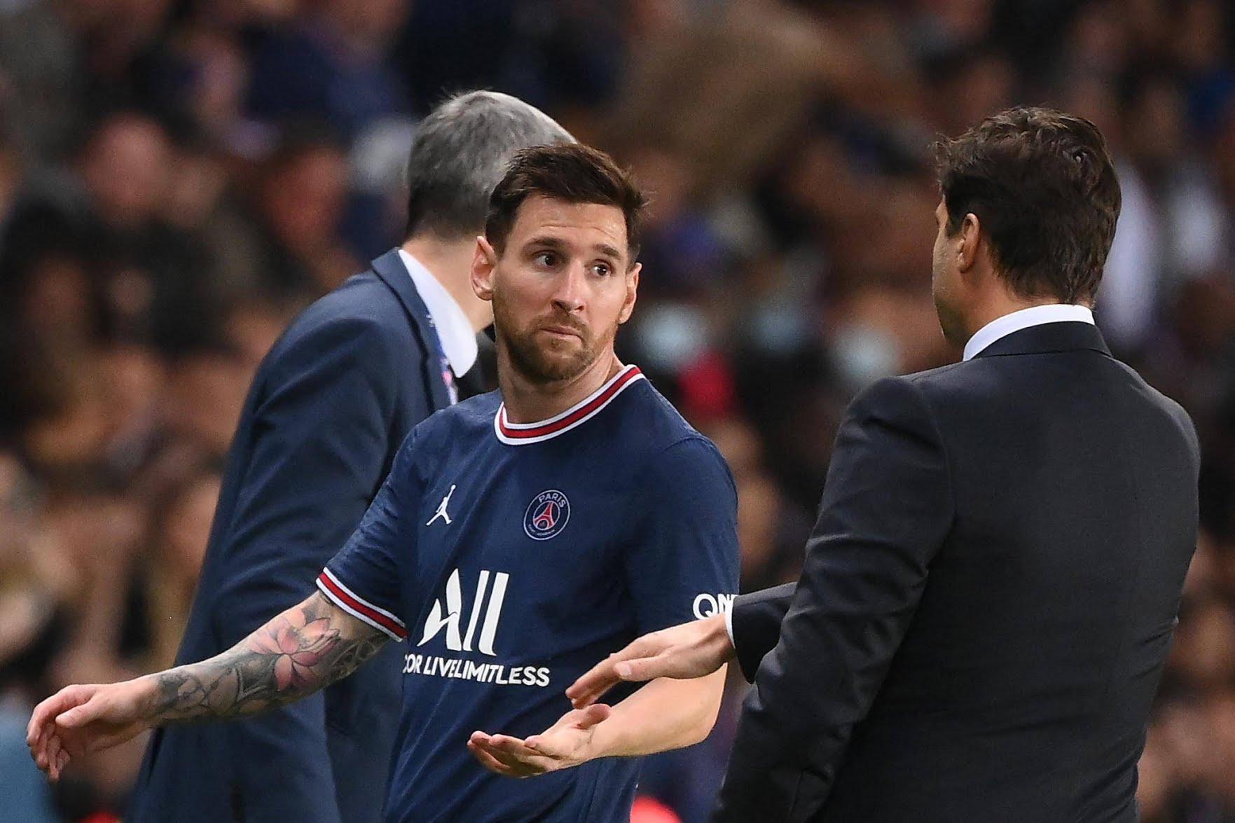ميسي وتراجع ادائه بعد برشلونة